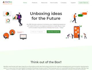 alertbox.in screenshot