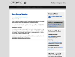 alerts.longwood.edu screenshot