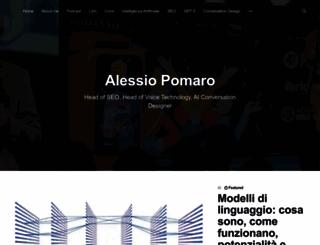alessiopomaro.com screenshot