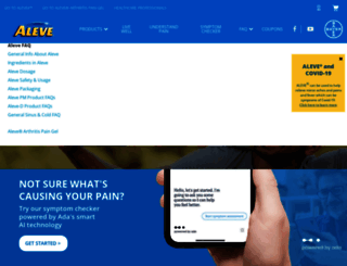 aleve.com screenshot