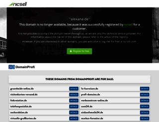 alexana.de screenshot