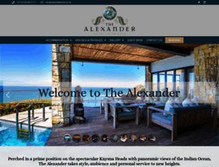 alexanderhouse.co.za screenshot