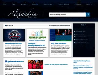 alexandriava.gov screenshot