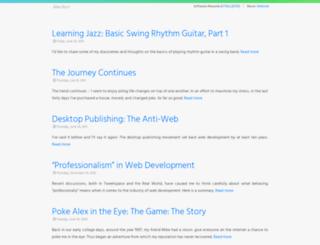 alexburr.com screenshot