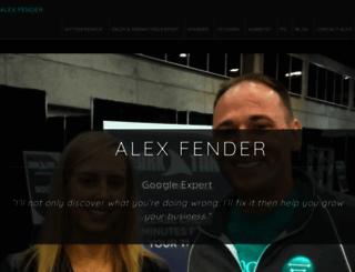 alexfender.com screenshot