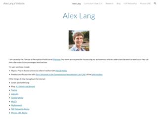 alexhunterlang.com screenshot