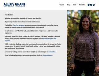 alexisgrant.com screenshot