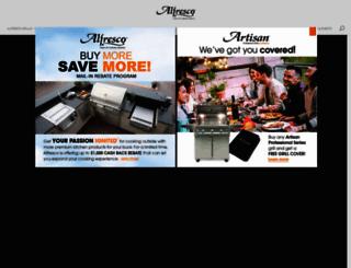 alfrescogrills.com screenshot