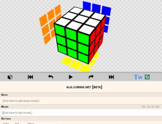 alg.cubing.net screenshot