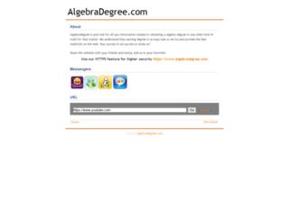 algebradegree.com screenshot