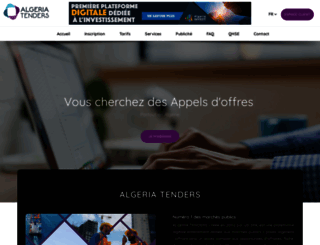 algeriatenders.com screenshot