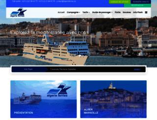 algerieferries.com screenshot