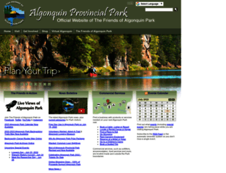algonquinpark.on.ca screenshot