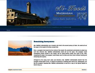 alhaadi.org.za screenshot