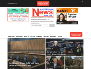 alicespringsnews.com.au screenshot