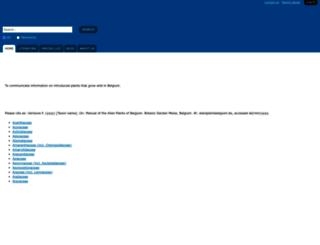 alienplantsbelgium.be screenshot