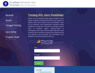 alihjenis.ipb.ac.id screenshot