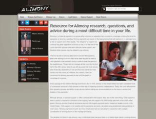 alimony.com screenshot