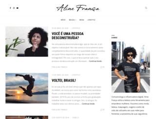 alinefranca.com screenshot