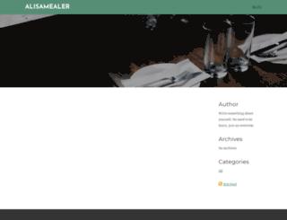 alisamealer.weebly.com screenshot