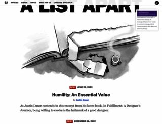 alistapart.com screenshot