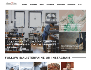 alisterpaine.com screenshot