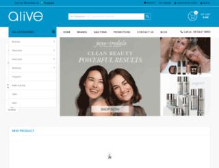 aliveskinhair.com.au screenshot