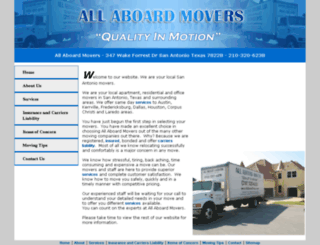 allaboardmovers.com screenshot