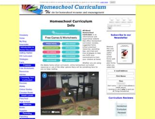 allabouthomeschoolcurriculum.com screenshot