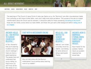 allaboutmormons.com screenshot