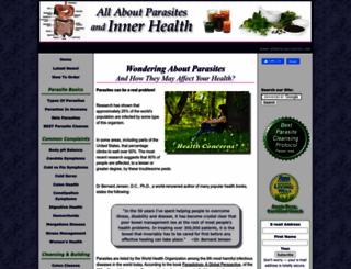 allaboutparasites.com screenshot