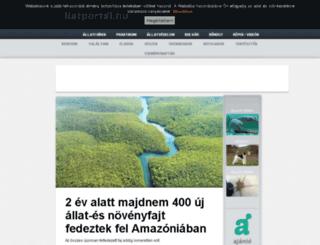 allatportal.hu screenshot