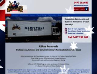 allausremovals.com.au screenshot