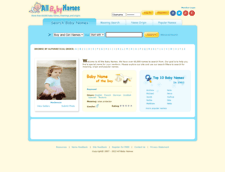 allbabynames.com screenshot