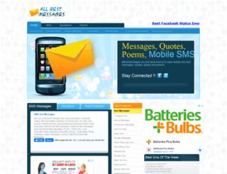 allbestmessages.com screenshot