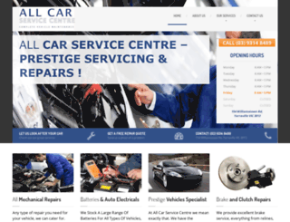 allcarservicecentre.com.au screenshot