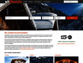 allchalets.com screenshot
