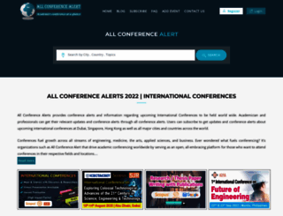 allconferencealert.net screenshot