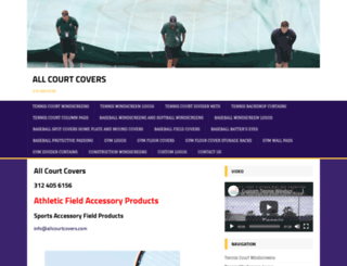 allcourtcovers.com screenshot