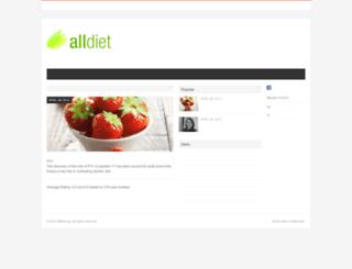 alldiet.org screenshot