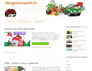 alle-gewinnspiele.ch screenshot