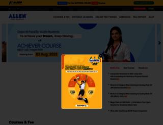 allen.ac.in screenshot