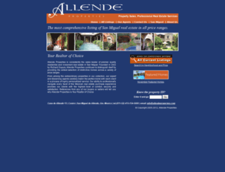 allendeproperties.com screenshot