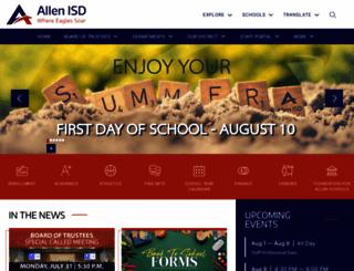 allenisd.org screenshot