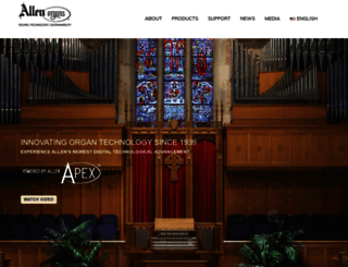 allenorgan.com screenshot