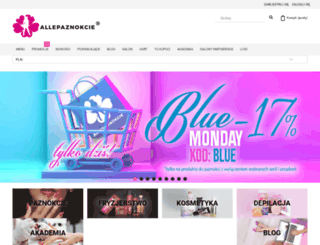 allepaznokcie.pl screenshot