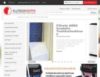 allergiakauppa.fi screenshot
