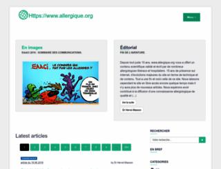 allergique.org screenshot