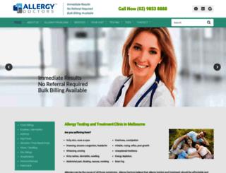 allergydoctors.com.au screenshot
