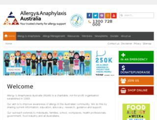 allergyfacts.org.au screenshot